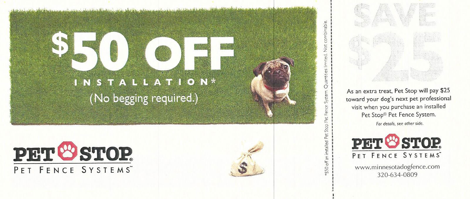 Canine fence coupons